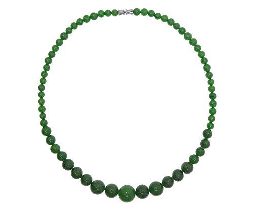 Jade Halskette, natürlicher Jade, grün, rund, 6-14mm