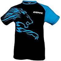 Donic camiseta camisetas León, Opciones L, negro/cian