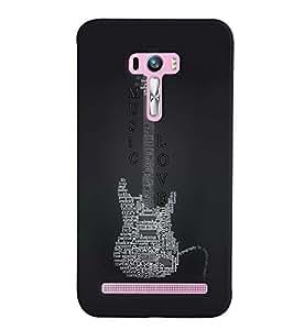 PrintVisa Music Guitar Quotes 3D Hard Polycarbonate Designer Back Case Cover for Asus Zenfone Selfie