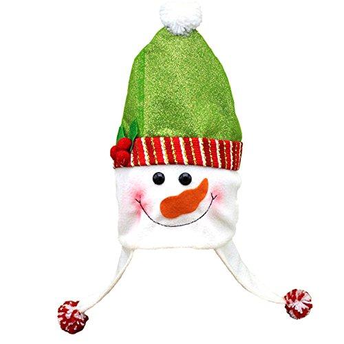 OULII Weihnachten Schneemann Hut Kinder Weihnachtsmütze Weihnachten Kostüm Deko Kopfschmuck Geschenke für Kinder Erwachsene