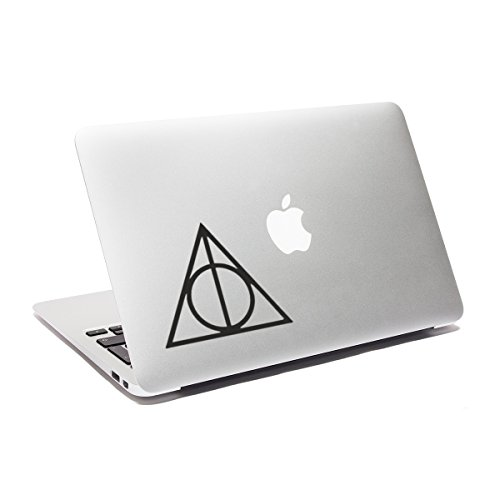 Image of Deathly Hallows Laptop Decal Harry Potter Macbook sticker Car Decal Window Sticker