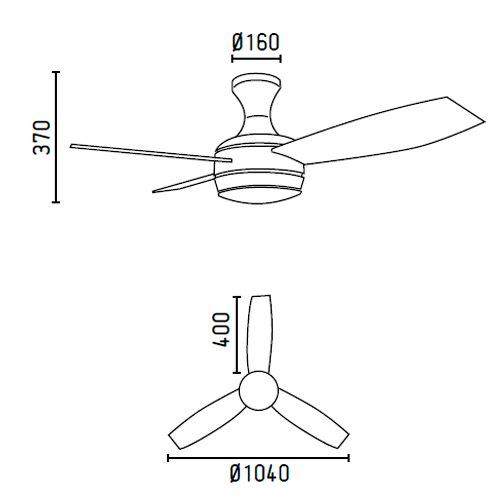 412TFeiU88L. SS500  - Faro Barcelona 33454–Mini UFO Ceiling Fan White