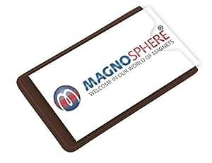 Porte Etiquette Magnetique taille: 10cm x 6cm - 10 pièces - Magnétiques Pochettes avec Bande Magnétique et PVC transparent sur le côté frontal