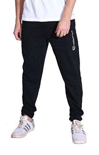 VERSATYL Men's Blended Slim Fit Track Pants Black_Large