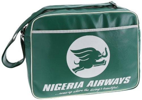 Logoshirt  Nigeria Airways, Damen Umhängetasche grün