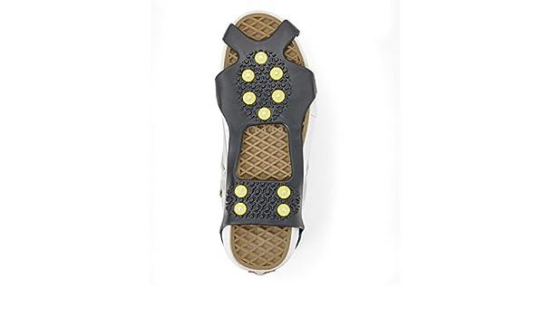 Winter Senioren wandern Eurosell Gr/ö/ße 36-41 Premium Schuh Spikes Schuhspikes Schuhspikes Schuhkralle Schuhkrallen Eisspikes Shoespikes Anti Rutsch Sohle Eis Schneekette f/ür den Stiefel
