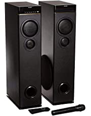 Philips SPA9080B Bluetooth Multimedia Tower Speakers with Mic for Karaoke(Black)