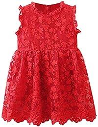 Malloom Niñas Bowknot Lace Princesa Falda Summer Sequins Vestidos para Bebés Niños Niños de 2-7 años de Edad