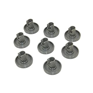 Zanussi Dishwasher Lower Basket Wheel Pack Of 8. Genuine part number 50286965004