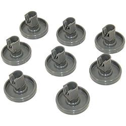 Zanussi–Rueda para cesta inferior de lavavajillas (8unidades). Número de pieza genuina 50286965004