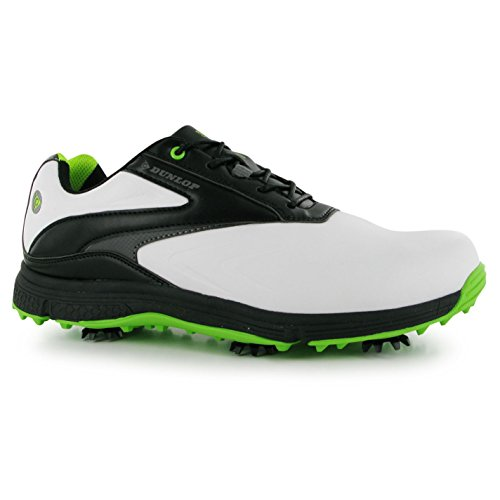 Dunlop Biomimetic 300 Herren Golf Schuhe Softspike Schnuerschuhe Sportschuhe Weiß 7.5 (41.5)