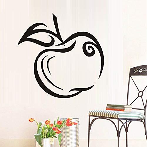 Dekoration Wandkunst Green Apple Wandaufkleber Heißer Verkauf DIY Wasserdicht Abnehmbare Vinyl Aufkleber Für Küche 60 cm X 58 cm (Apple Laptop Verkauf)
