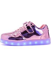 850964230 ByBetty zapatillas luces niños Niñas 7 Color USB Carga Deportivas De Luces  Zapatillas Led
