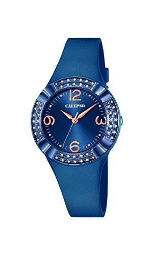 Calypso–Reloj de mujer de cuarzo con Esfera Analógica Azul Pantalla y azul correa de plástico K5659/6