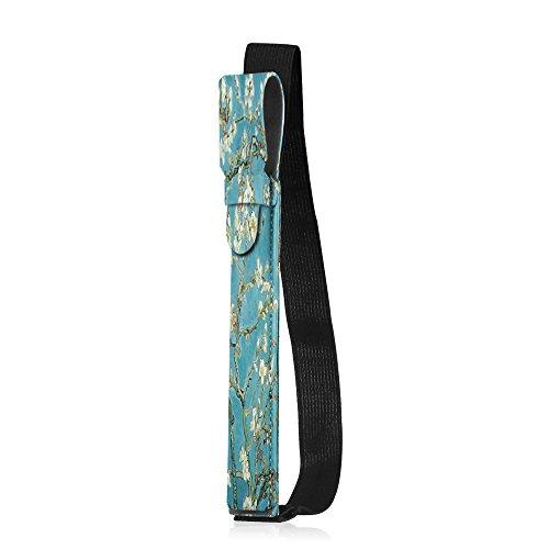 Fintie Apple Pencil Halter - Premium Kunstleder Hülle mit USB-Adapter-Tasche, kompatibel mit iPad Pro 9,7, iPad Pro 10.5 & iPad Pro 12.9 Schutzhüllen, Mandelblüten