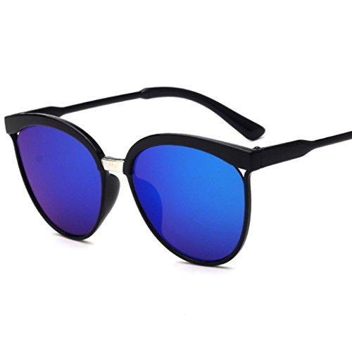 AMUSTER.DAN Unisex Sonnenbrille Eyewear Outdoor Sport Brillen Square Vintage Mirrored Sonnenbrille (E)