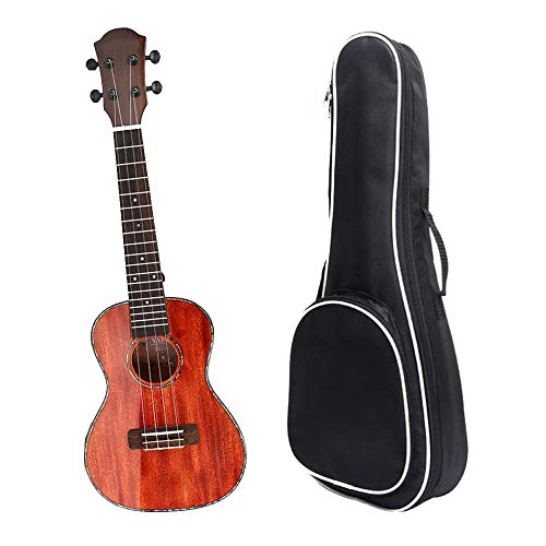 Shiny Glossy Finish Mahagoni-Holz 23 Zoll Konzert Ukulele Uke Hawaii Kinder Kleine Gitarre Mit Tasche Für Kinder Studenten Anfänger Ukulele-Starter ( Farbe : Rot , Größe : 23 inches )