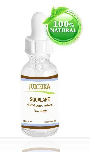 SQUALANE 100% Pure / Natural. 2 oz - 60 ml By Juiceika. Rapidly penetrates the skin and is absorbed quickly and completely without any lingering residue.