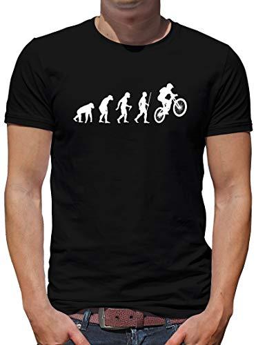 TShirt-People Evolution Mountainbike T-Shirt Herren Downhill MTB BMX XL Schwarz