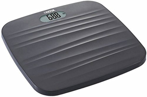 Nova BGS - 1260 Ultra Lite Electronic Digital Personal Body Scale (Black)