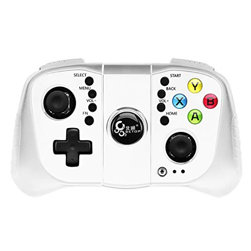 Bluetooth-Gamecontroller, Chshe ?? Bluetooth-Gamepad-Gamecontroller Joypad Direct Ios/Android Universal Playpubg, Weiß (Wh) Bluetooth-cordless-system