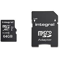 Integral UltimaPro 64 GB MicroSDXC Class 10 Memory Card up to 90 MB/s, U1 Rating
