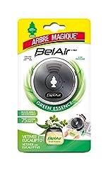 Idea Regalo - Arbre Magique Belair Giugiaro Easy, Deodorante Auto, Fragranza Green Essence, Emanatore Liquido, Effetto Lunga Durata, Design Made in Italy