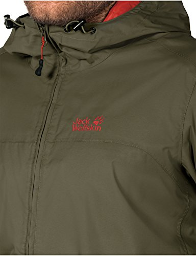 Jack Wolfskin Herren Wetterschutzjacke Arroyo Jacket Burnt Olive
