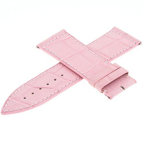 Franck Muller Geneve Leder 22A Pink 24–22mm Armbanduhr Band