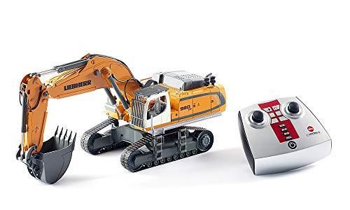 SIKU 6740, Liebherr R980 SME Bagger, Ferngesteuert, 1:32,  Inkl. Fernsteuermodul, Metall/Kunststoff, Batteriebetrieben, Viele Funktionen, Gelb