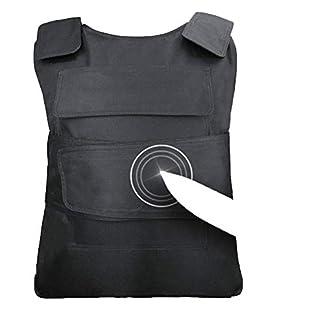 Armor QTrees Chaleco de Seguridad con protección para el Pecho y el Pecho con Armadura de Acero de manganeso