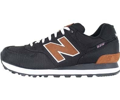 New Balance ML574BPR, Herren Sneaker, Schwarz - Nero (Black) - Größe: 43