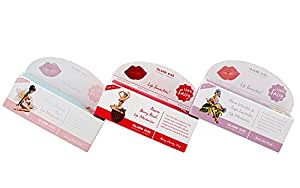 Island Kiss, 100% Natural & Organic Lip Balm Triple Pack - Tutu Cute With Spf 15, Alma Vanilla & Inges Lavender (14Gms),Cherry Blossom Flores (14Gms) & Peurto Berry Blush (14Gms)