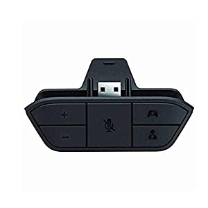 KOBWA Xbox One Stereo Headset Adapter Kopfhörer Converter Spiel Controller – Universal Audio Chat Mikrofon Kopfhörer Adapter Unterstützt Jede Version des Controllers Host