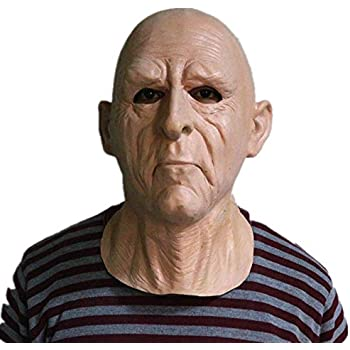 366a0bbfd69b96 RZ Réaliste Latex Vieil Homme Masque Masque Déguisement Halloween ...