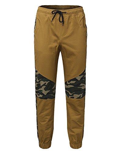 MODCHOK Herren Jogginghose Chino Sweatpants Jogging Freizeithose Cargo Hose Cotton Hose Khaki 2