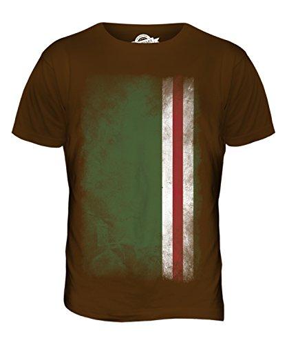 CandyMix Tschetschenische Republik Itschkerien Verblichen Flagge Herren T  Shirt Braun