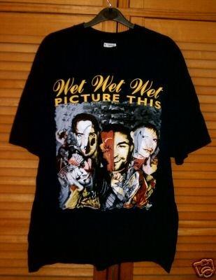 WET WET WET. PICTURE THIS 1995 WORLD TOUR T-SHIRT. XL (Wet Wet Wet-t-shirt)