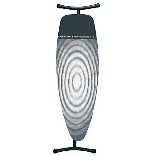 Brabantia Bügelbrett mit wärmebeständiger Ablagezone, Größe D, Extra Groß metallicgrau