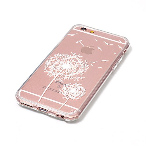 iPhone 6 Hülle,iPhone 6S Silikon Case,iPhone 6 Cover - Felfy Ultradünne Weicher Gel Flexible Soft TPU Silikon Transparent Hülle Schutzhülle Hülle Color Muster Farbmalerei Beschützer Hülle Handy Durchs Löwenzahn Hülle