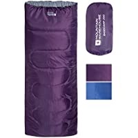 Mountain Warehouse Basecamp 200 Sleeping Bag - Easy Care All Season Sleeping Bag, Warm Kids Camping Bag, Extreme Temperature 5C Adults & Children