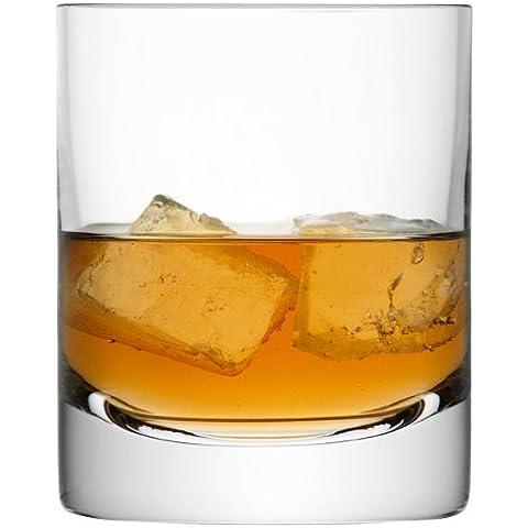 barra de LSA Vasos 8,8oz / 250ml - Pack de 4 - LSA Hecho a mano Estilo Antiguo Whisky vasos