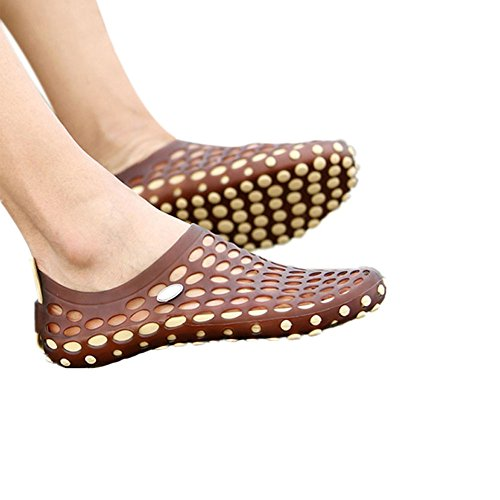 Haodasi Männer Höhle ausholen Sandalen Atmungsaktiv Strandschuhe Hausschuhe Cool Schuhe Khaki w/Braun