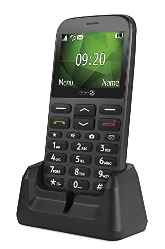 Doro 7574 1370 2G UK Dual SIM-Free Mobile Phone - Black Best Price and Cheapest