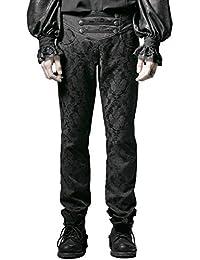 1af21f47b76a Punk Rave Herrenhosen Hose Schwarz Brokat Gothic Steampunk Aristocrat  Regentschaft