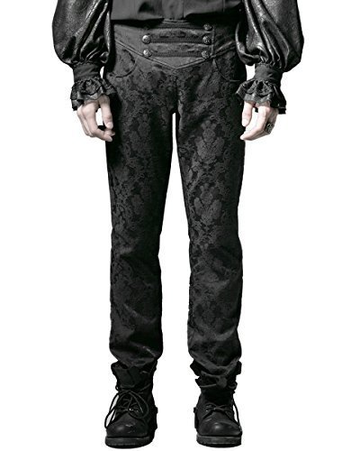 Punk Rave -  Pantaloni  - Uomo Black X-Large