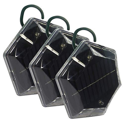 ISOTRONIC Taubenabwehr Blitz Vogelschreck Vogelabwehr Katzenschreck - Solarbetrieb - Ultraschall Vogelvertreiber/Tiervertreiber mit Blitzlicht - Vögel Tauben Spatzen Raben vertreiben, wasserdicht (3)