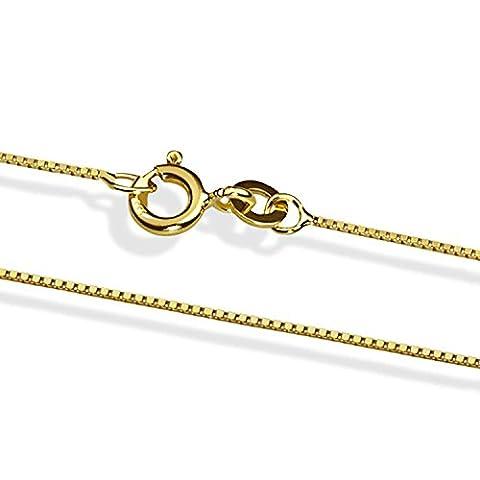 14 Karat / 585 Gold Italienisch Venezianer Box Kette Gelbgold