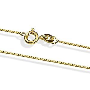 18 Karat / 750 Gold Feine Venezianer Box Kette Gelbgold- verschiedene Längen