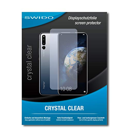 SWIDO Schutzfolie für Huawei Honor Magic 2 [2 Stück] Kristall-Klar, Hoher Härtegrad, Schutz vor Öl, Staub & Kratzer/Glasfolie, Bildschirmschutz, Bildschirmschutzfolie, Panzerglas-Folie